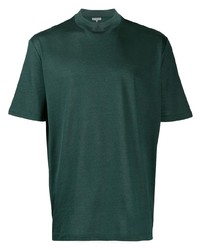 Camiseta con cuello circular verde oscuro de Lanvin