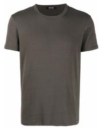 Camiseta con cuello circular verde oscuro de Tom Ford