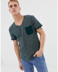 Camiseta con cuello circular verde oscuro de Tom Tailor