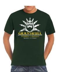 Camiseta con cuello circular verde oscuro de Touchlines