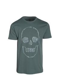 Camiseta con cuello circular verde oscuro de Volcom