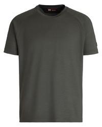 Camiseta con cuello circular verde oscuro de Z Zegna