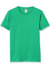 Camiseta con cuello circular verde de Fruit of the Loom