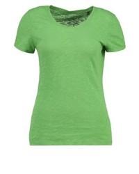 Camiseta con cuello circular verde de Marc O'Polo