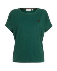 Camiseta con cuello circular verde de Naketano