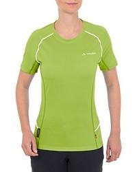 Camiseta con cuello circular verde de Vaude