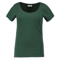 Camiseta con cuello circular verde de Zalando Essentials
