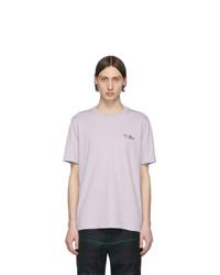 Camiseta con cuello circular violeta claro de Paul Smith
