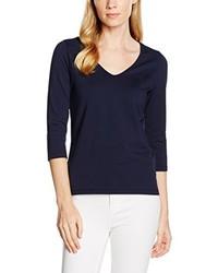 Camiseta con cuello en v azul marino de GANT