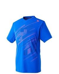 Camiseta con cuello en v azul de Wilson