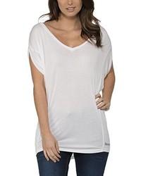 Camiseta con cuello en v blanca de Bench