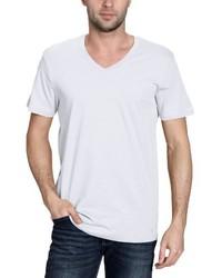 Camiseta con cuello en v blanca de BLEND
