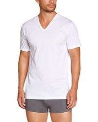 Camiseta con cuello en v blanca de EMINENCE