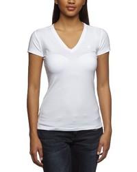 Camiseta con cuello en v blanca de G Star