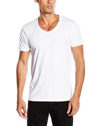 Camiseta con cuello en v blanca de Jack & Jones