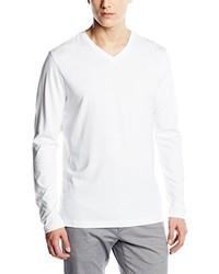 Camiseta con cuello en v blanca de Signum