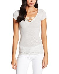 Camiseta con cuello en v blanca de Tally Weijl