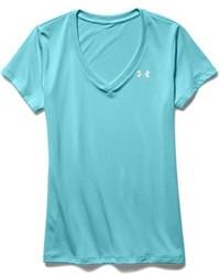 Camiseta con Cuello en V Celeste de Under Armour