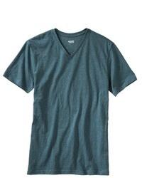 Camiseta con cuello en v en verde azulado