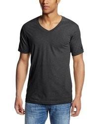 Camiseta con cuello en v gris oscuro original 2157603