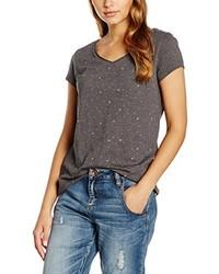 Camiseta con cuello en v gris de edc by Esprit