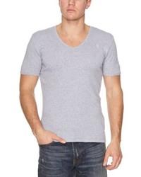 Camiseta con cuello en v gris de G Star