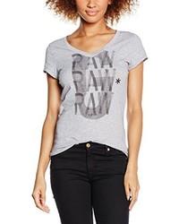 Camiseta con cuello en v gris de G-Star Raw