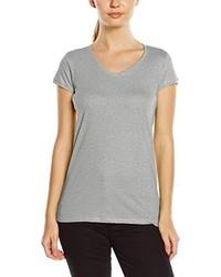 Camiseta con cuello en v gris de Stedman Apparel
