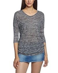 Camiseta con cuello en v gris de Vero Moda