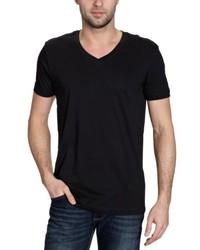 Camiseta con cuello en v negra de BLEND