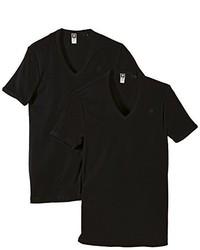 Camiseta con cuello en v negra de G Star