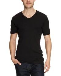 Camiseta con cuello en v negra de Garage
