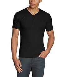 Camiseta con cuello en v negra de J.M. GARCIA GARCIA, S.A.