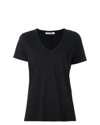 Camiseta con cuello en v negra de Rag & Bone