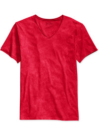Camiseta con cuello en v roja