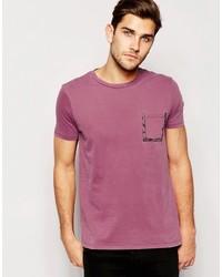 Camiseta con estampado geométrico roja de Asos