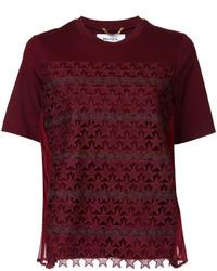 Camiseta de crochet de estrellas burdeos de Muveil