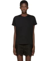 Camiseta de encaje negra de Valentino