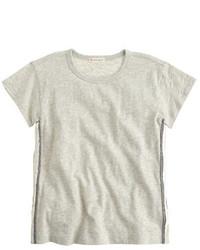 Camiseta de lentejuelas gris
