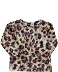 Camiseta de leopardo marrón claro