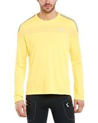 Camiseta de manga larga amarilla de adidas