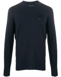 Camiseta de manga larga azul marino de Emporio Armani