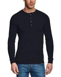 Camiseta de manga larga azul marino de Jack & Jones