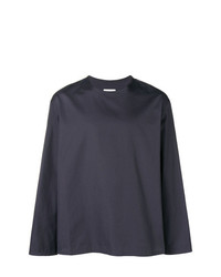 Camiseta de manga larga azul marino de Lemaire