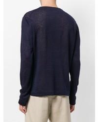 Camiseta de manga larga azul marino de Paolo Pecora