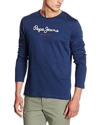 Camiseta de manga larga azul marino de Pepe Jeans