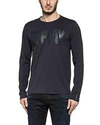 Camiseta de manga larga azul marino de Replay