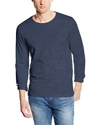 Camiseta de manga larga azul marino de Selected Homme