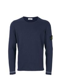 Camiseta de manga larga azul marino de Stone Island