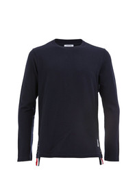 Camiseta de manga larga azul marino de Thom Browne